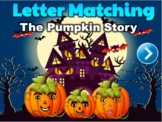 Halloween Letter Matching Uppercase & Lowercase Interactive PPT game | Editable