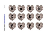Letter Matching Uppercase and Lowercase Valentine Chocolate Hearts