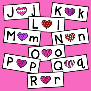Letter Matching - Valentine's Day Hearts