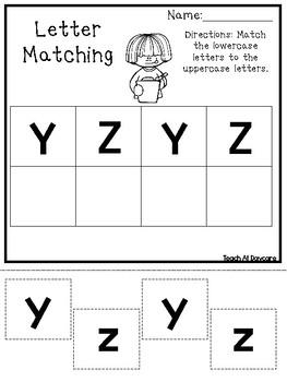 Letter Matching Worksheets. Preschool-Kindergarten Phonics and ELA.
