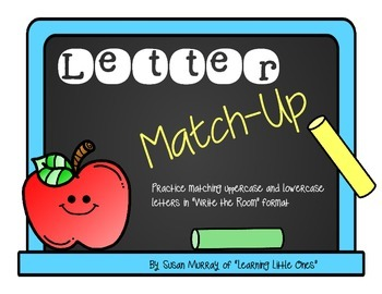 Letter Matching: Write the Room for the Beginning of the Year