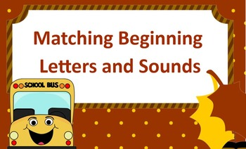 Letter Matching and Beginning Sounds Autumn Theme