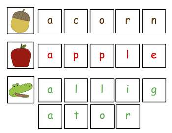 Letter Matching and Spelling