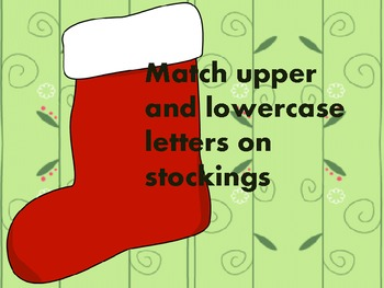 Letter Matching on Stockings