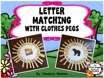 Letter Matching with Clothes Pegs