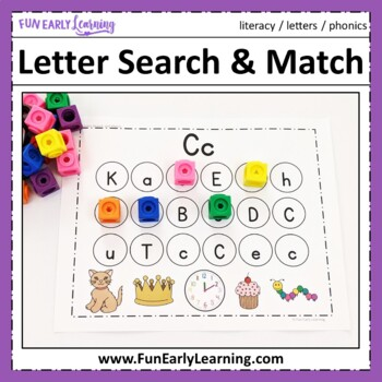 Letter Search & Match - Letter Recognition, Identification