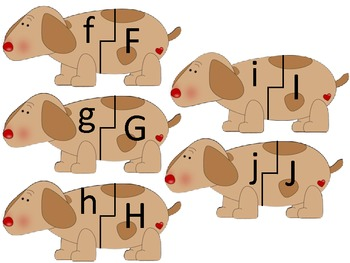 Letter Matching with Lucy the Weiner Dog