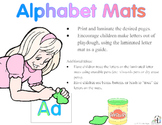 Letter Mats 1:  Playdoh Mats, Tracing Letters