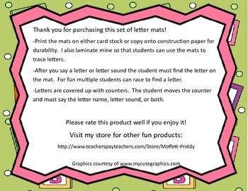 Letter Mats