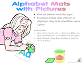 Letter Mats 2:  Playdoh Mats with Pictures, Tracing Letters
