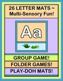 """Letter Mats!"" -- 26 Mats for Group Games, Folder Games, and Play-Doh"