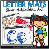 Letter Mats - FREE