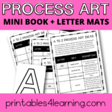 Letter Mats with Process Art Mini Book