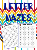 Letter Maze Literacy Center
