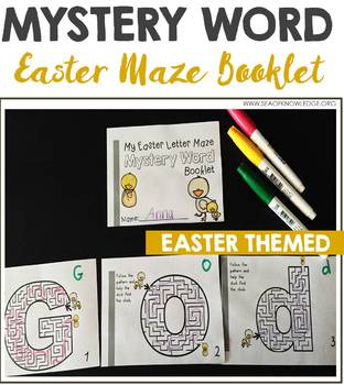 Letter Maze Mystery Word Booklet Easter Themed