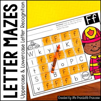 Letter Mazes {Letter Recognition Activities}