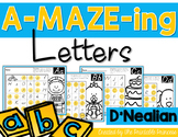 Letter Mazes {D'Nealian Version}