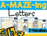 Letter Mazes {D'Nealian Version}