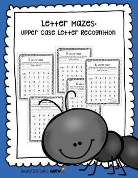 Letter Mazes: Upper Case Letter Recognition