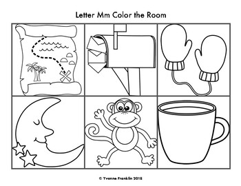 Letter Mm Color, Trace & Write the Room