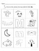 Letter Mm Words Coloring Worksheet