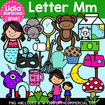Letter Mm Digital Clipart