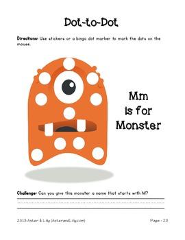 Letter Mm Dot-to-Dot