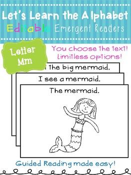 Letter Mm *Editable* Alphabet Emergent Reader
