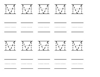 Letter Mm Handwriting Practice