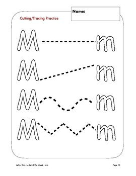 Letter Mm (M is for Magnets): Letter Zoo- Preschool Curriculum