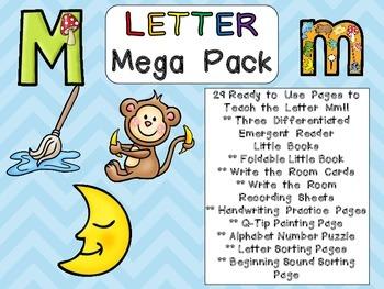 Letter Mm Mega Pack- Kindergarten Alphabet- Handwriting, L