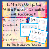 Letter Mm Nn Oo Pp Qq  No Prep Writing Practice