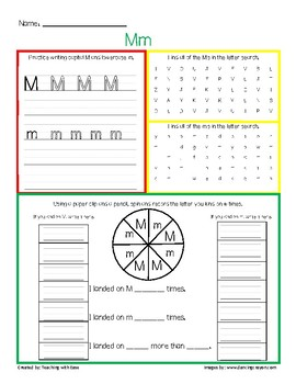 Letter Recognition Mm Practice