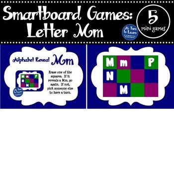 Letter Mm Smartboard Games (5 mini games) (Smartboard/Promethean Board)
