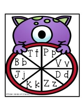 Letter Monster Spin