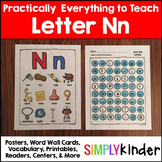 Letter N | Alphabet Printables and Centers