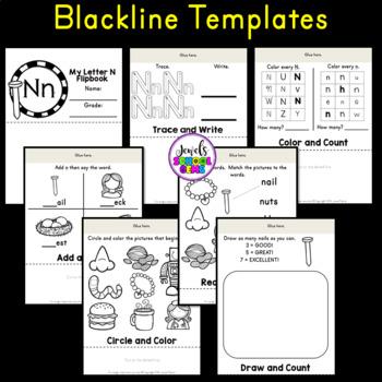 Letter N Alphabet Flip Book (Alphabet Interactive Notebook Activities)