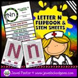 Letter N Alphabet Flip Book (Alphabet Interactive Notebook