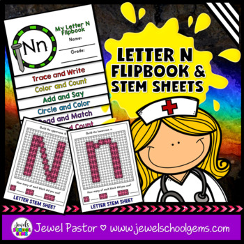 Letter N Alphabet Interactive Notebook Activities Flipbook