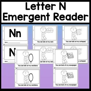 Letter N Activities {Letter N Book and 5 Letter N Worksheets!}