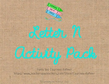 Letter N Activity Pack
