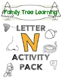 Letter N Activity Pack