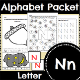 Letter N Activity and Center Packet