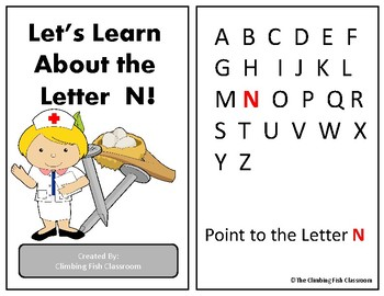 Letter 'N' Adapted Book