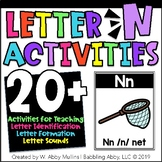 Letter N Alphabet Activities   Recognition, Formation, and Sounds