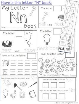 Letter N: Alphabet Activity Book