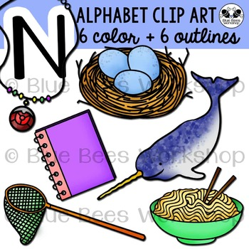Letter N Clip Art Alphabet / Beginning Sound N