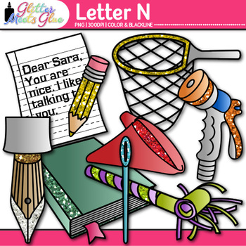Letter N Alphabet Clip Art {Teach Phonics, Recognition, and Identification}