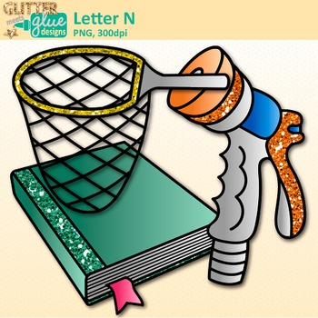 Letter N Alphabet Clip Art | Teach Phonics, Recognition, and Identification