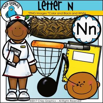 Letter N Alphabet Clip Art Set - Chirp Graphics